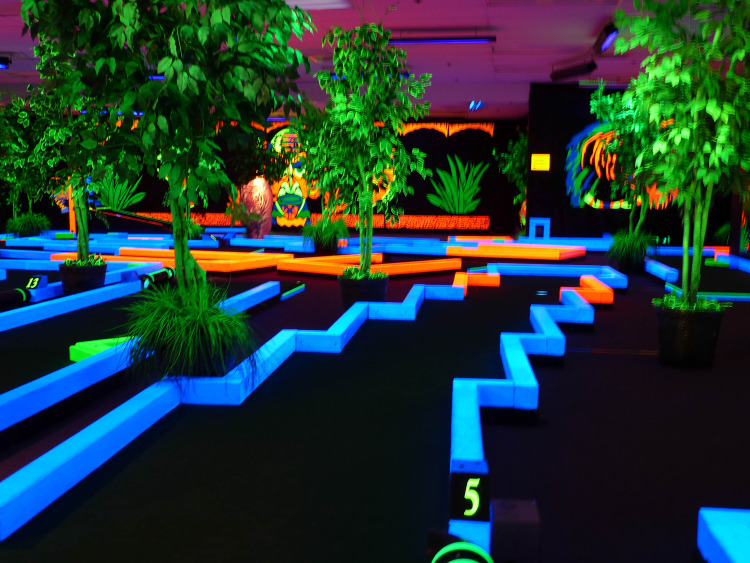 Indoor Glow In The Dark Mini Golf on Oahu & Birthday Parties